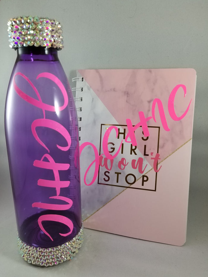 Custom Water Bottle And Notebook Set