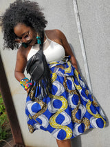 Custom midi skirt with pockets