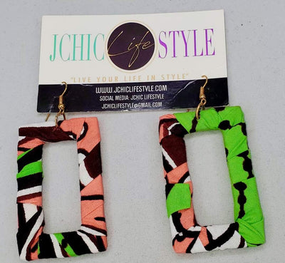 African Print Chic Earrings