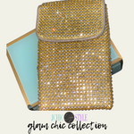 Glam Chic Collection Clutch/ Crossbody Bag