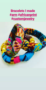 Fabric Wrapped Bracelet
