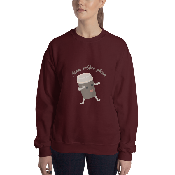 Sweatshirt - More coffee please! - KreativPrints