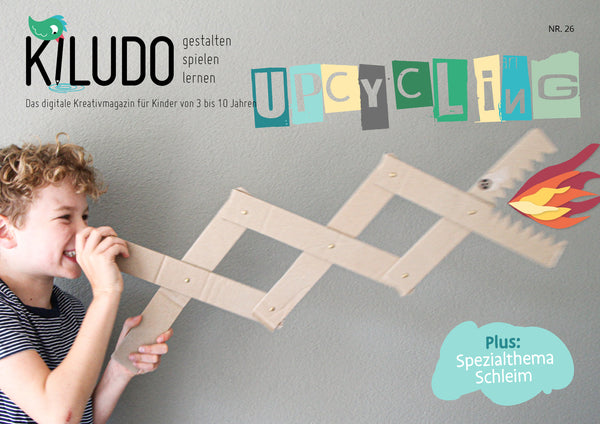 Kiludo Kinder Basteln Upcycling Karton Recycling