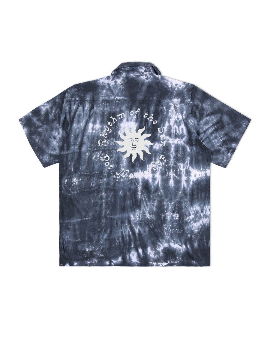 RHYTHM OF THE SUN TIE-DYE SHIRT BLACK S/S 20