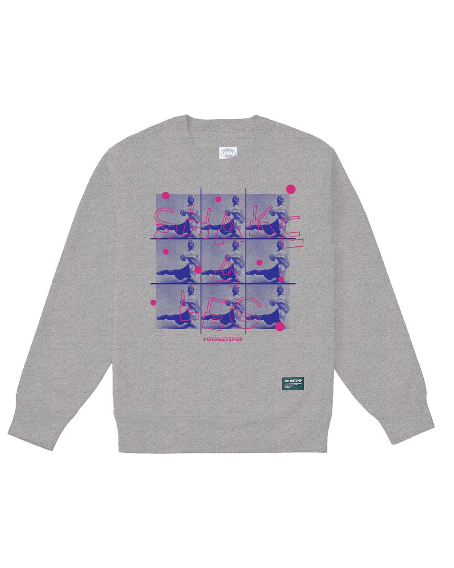 SHAKE-A-LEG CREWNECK HEATHER GREY F/W 20