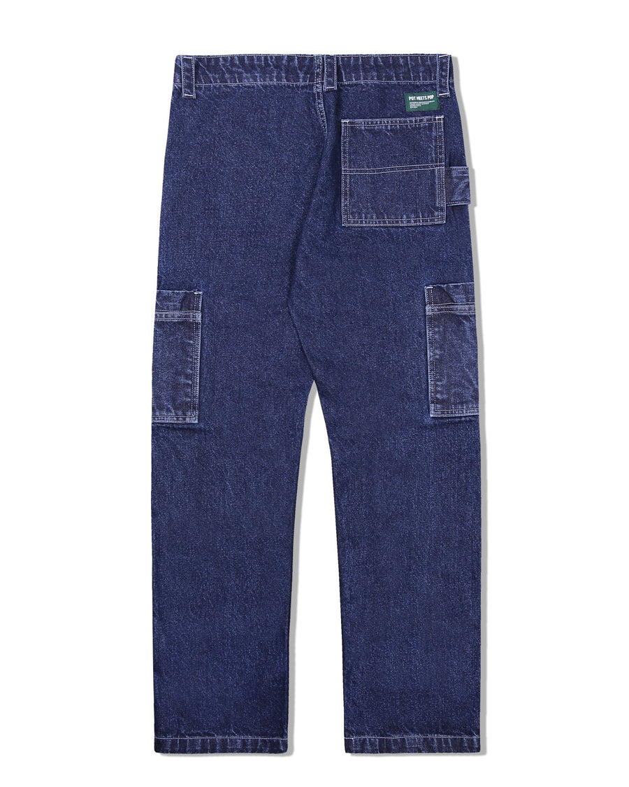 PUFF PAINTER PANTS WASHED INDIGO S/S 20