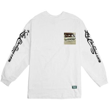 POT MEETS POP / CHEECH AND CHONG - LOS COCHINO LONGSLEEVE TEE WHITE