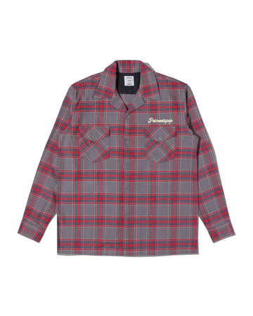 STASH FLANNEL LOOP COLLAR SHIRT GREY F/W 20