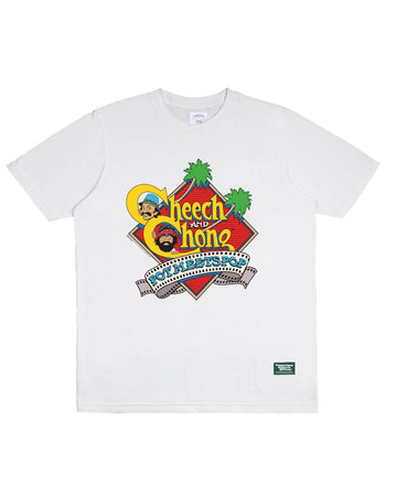 POT MEETS POP / CHEECH AND CHONG - NEXT MOVIE TEE WHITE