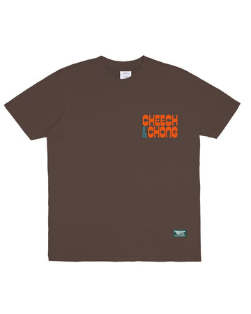 POT MEETS POP / CHEECH AND CHONG - STILL SMOKIN TEE BROWN