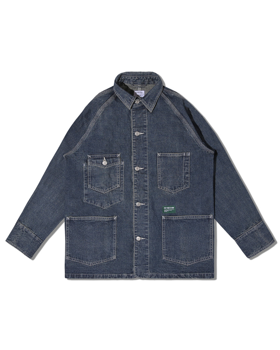 CRYPT COVERALL WASHED INDIGO F/W 19