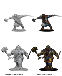 Pathfinder Battles Deep Cuts Miniatures: Dwarf Male Fighter (72616)
