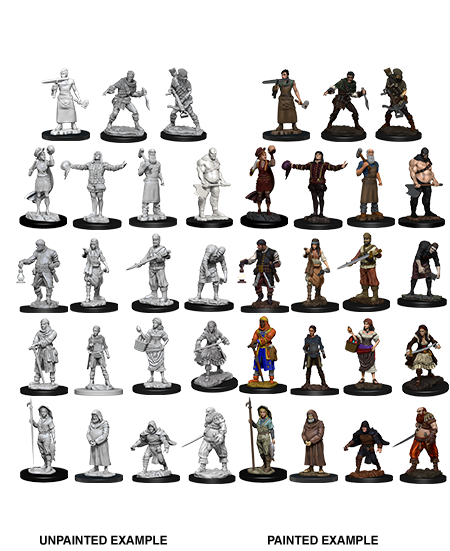 Wizkids Deep Cuts Unpainted Miniatures: Townspeople and Accessories (73698)