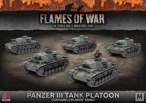 Flames of War: Mid War: German Panzer III Platoon (GBX105)