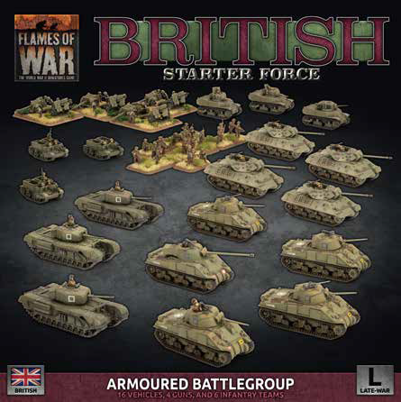 Pre Order Flames of War: Late War: British: Armored Battlegroup Starter Force (BRAB12)