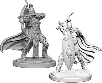 Wizkids Deep Cuts Unpainted Miniatures: Female Knights / Grey Maidens (73425)