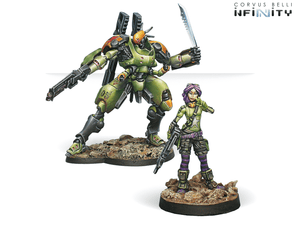 Infinity: Mercenaries Scarface and Cordelia. Armored Mercenary Team