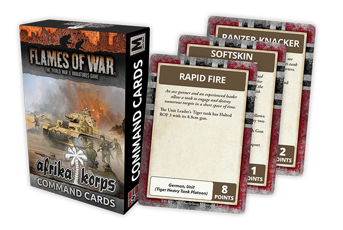 Flames of War: German: Afrika Korps Command Cards (FW242C)