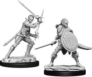 Pathfinder Deep Cuts Unpainted Miniatures: Female Elf Fighter (73410)