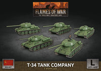 Flames of War Late War: Soviet T-34 Tank Company (SBX66)