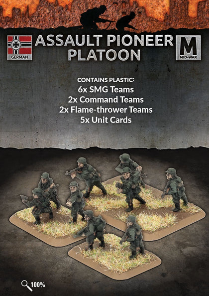 Flames of War: Mid War: German: Plastic Assault Pioneer Platoon (GE758)