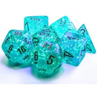 Chessex Dice Poly Set (7) Borealis: Teal/Gold Luminary (27585)