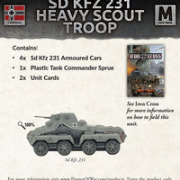 Flames of War: Mid War: German: Sd Kfx 231 Heavy Scout Troop (GBX113)