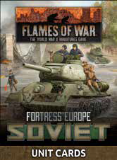 Pre Order Flames of War: Late War: Soviet: Fortress Europe Unit Cards (FW261U)
