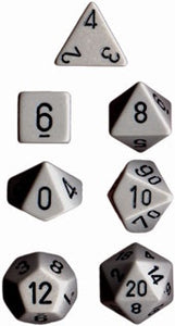 Chessex: Poly Set (7 Dice): Opaque:Gray/Black (25410)