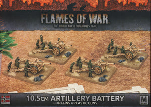 Flames of War: Mid War: German: 10.5cm Artillery Battery Plastic (GBX91)