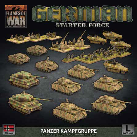 Pre Order Flames of War: Late War: German: Panzer Kampfgruppe Starter Force (GEAB18)