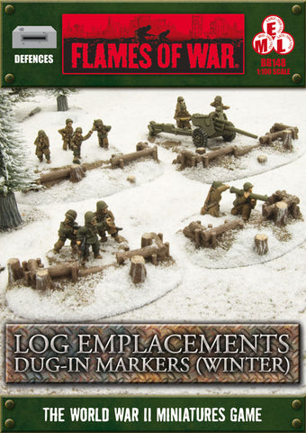 Flames of War: Winter Log Emplacements Dug in Markers (BB148)