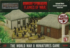 Flames of War: Gale Force Nine: Battlefield in a Box: Island Huts (BB196)