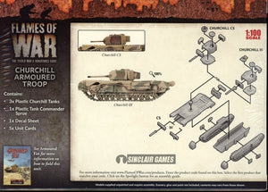 Flames of War: British: Mid War: Churchill Armored Platoon (BBX44)