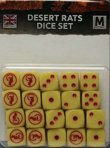 Flames of War: British: Mid War: Desert Rats Dice (BR900)