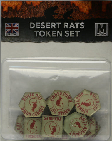 Flames of War: British: Mid War: Desert Rats Tokens (BR901)