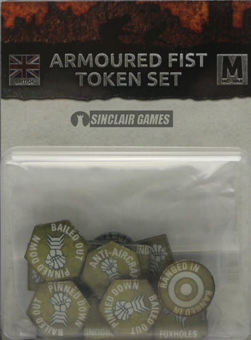 Flames of War: British: Mid War: Armored Fist Tokens (BR903)