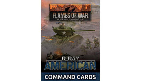 Flames of War: Late War: United States: D-Day: American Command Cards (FW262C)