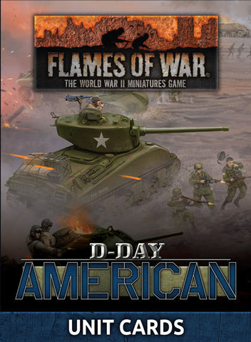 Flames of War: Late War; United States: D-Day American Unit Cards (FW262U)