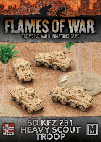 Flames of War: German: Sd Kfz 231 Heavy Scout Troop (GBX100)