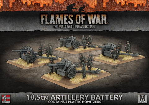 Flames of War: Mid War: German: 10.5cm Artillery Battery (GBX117)