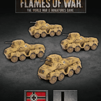 Flames of War: Late War German Waffen SS Sd Kfz 231 Scout Troop (GBX154)