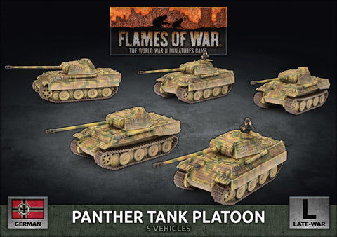 Flames of War: Late War: German: Panther Tank Platoon (GBX161)