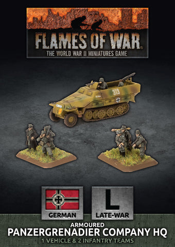 Flames of War: Late War: German: Panzergrenadier Company HQ (GBX168)