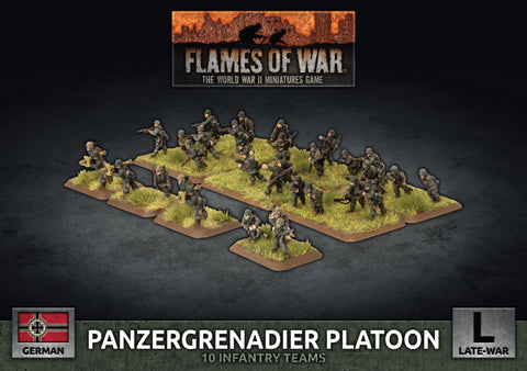 Flames of War: Late War: German: Panzergrenadier Platoon (GBX169)
