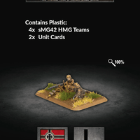 Flames of War: Late War German Waffen SS sMG42 Machine Gun Platoon (GE797)