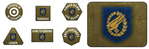 Flames of War: Late War: German: Fallschirmjager Tokens (x20) & Objectives (GE907)