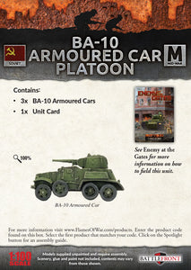 Flames of War: Mid War: Soviet: BA-10 Armored Car Platoon (SBX46)