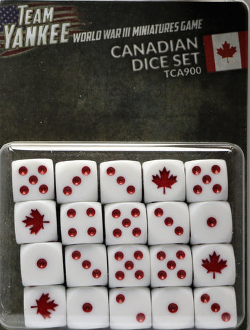 Team Yankee: Canadian: Dice Set (TCA900)