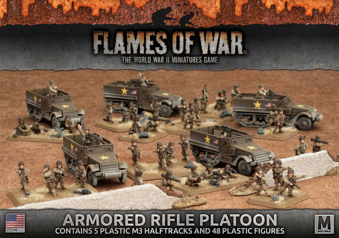 Flames of War: Mid War: United States: Armored Rifle Platoon (UBX51)